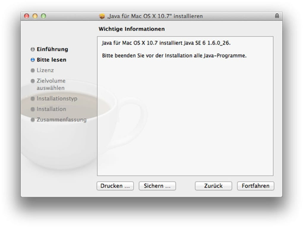 Oracle's Java 8 and Mac OS X 10.7.x