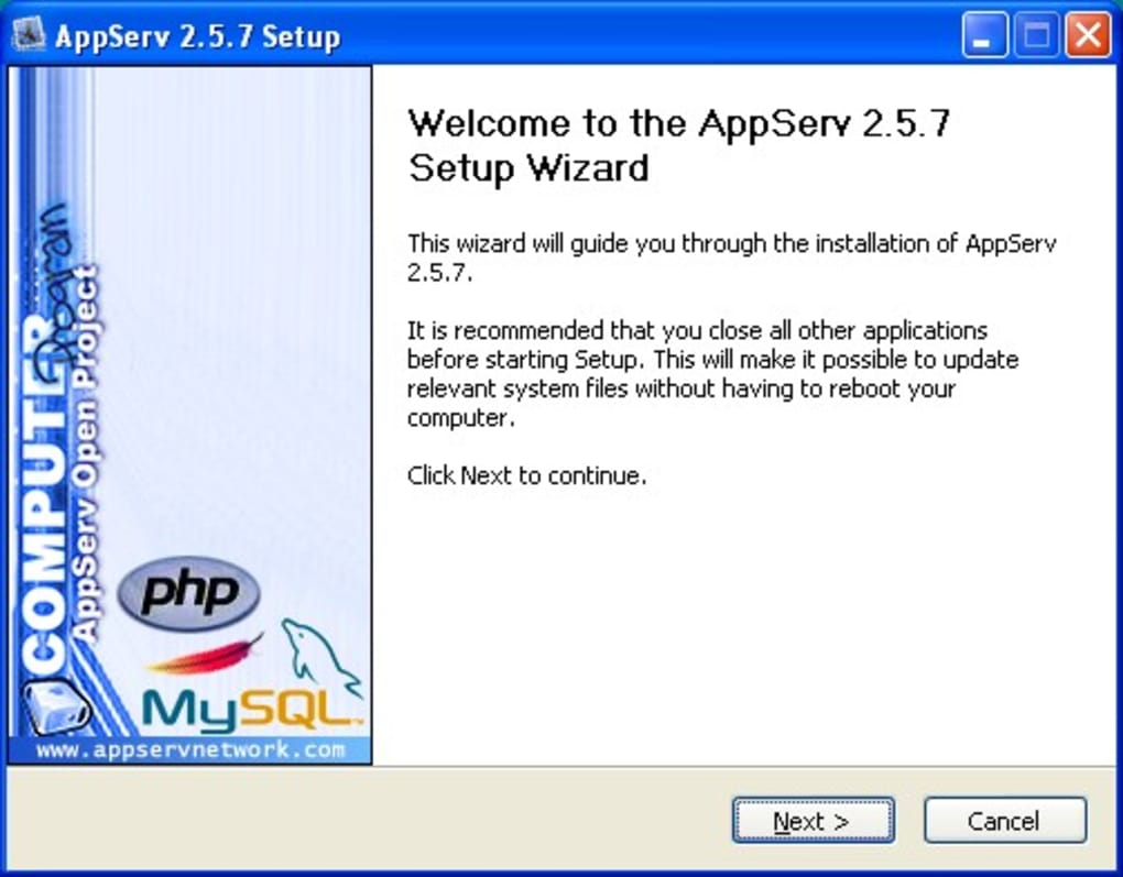 appserv 2.5.10 para windows xp