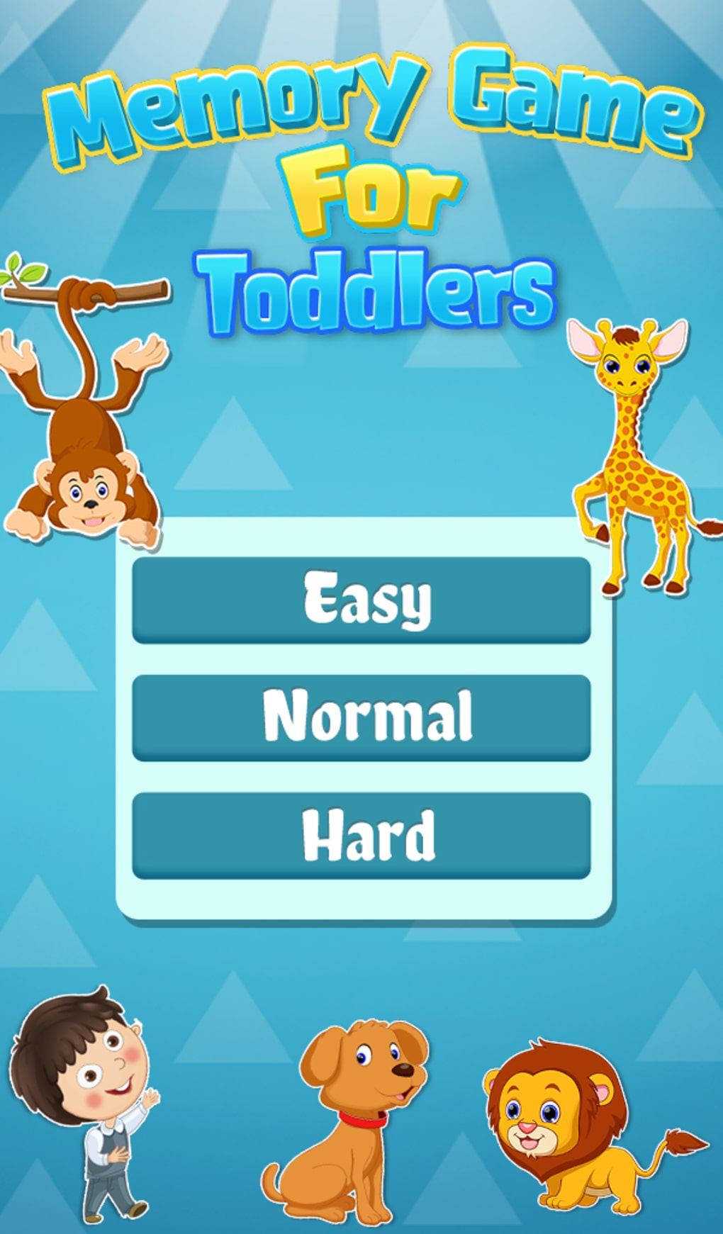 Memory Game For Toddlers