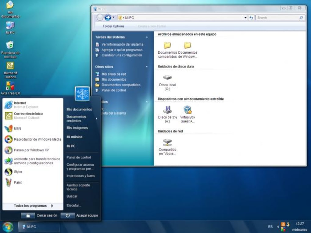 sevenvg refresh theme for windows xp