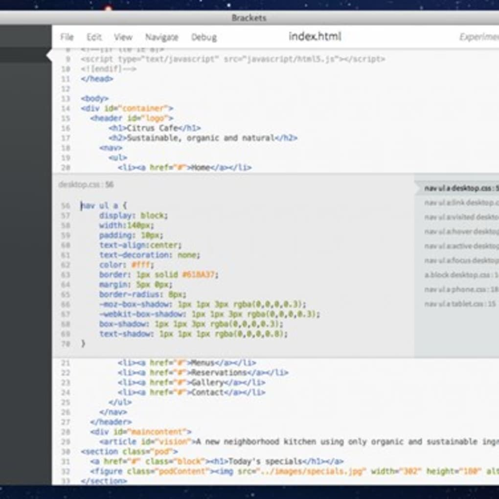 Brackets for Mac - Download