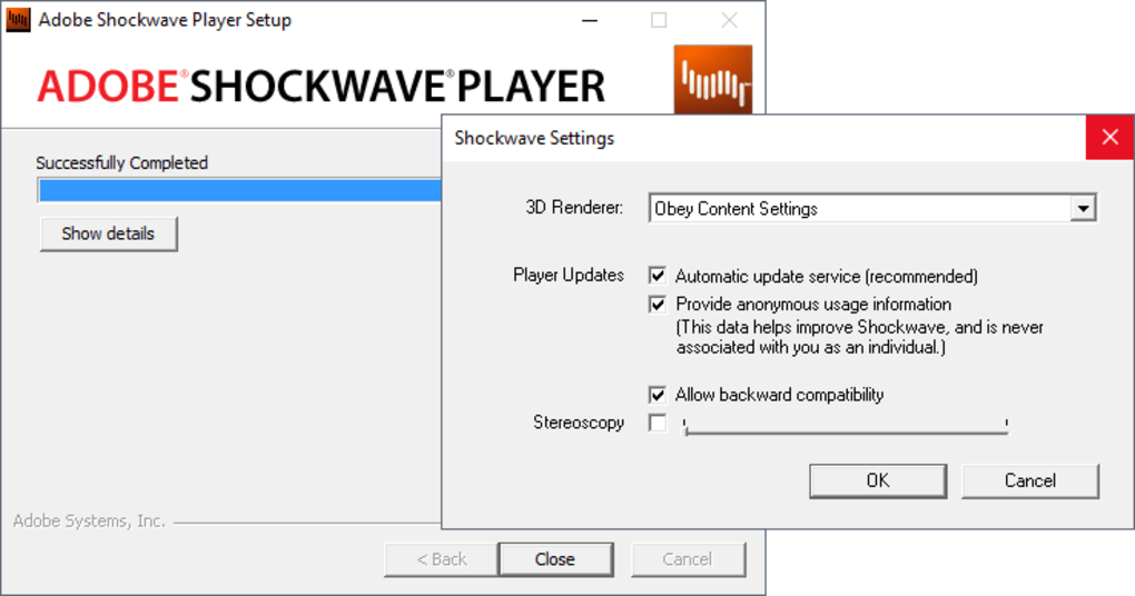 shockwave player windows 7 download