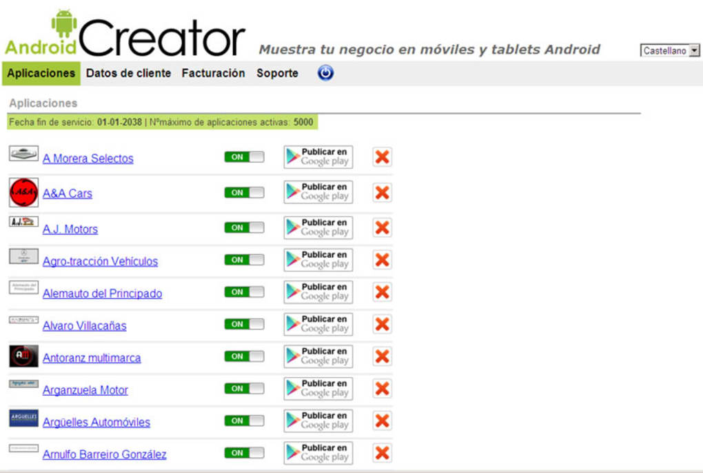 Android Creator Online