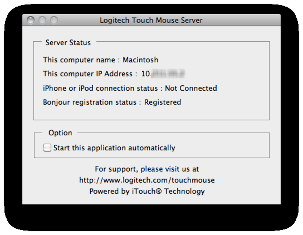 Logitech Touch Mouse Server for Mac - Download