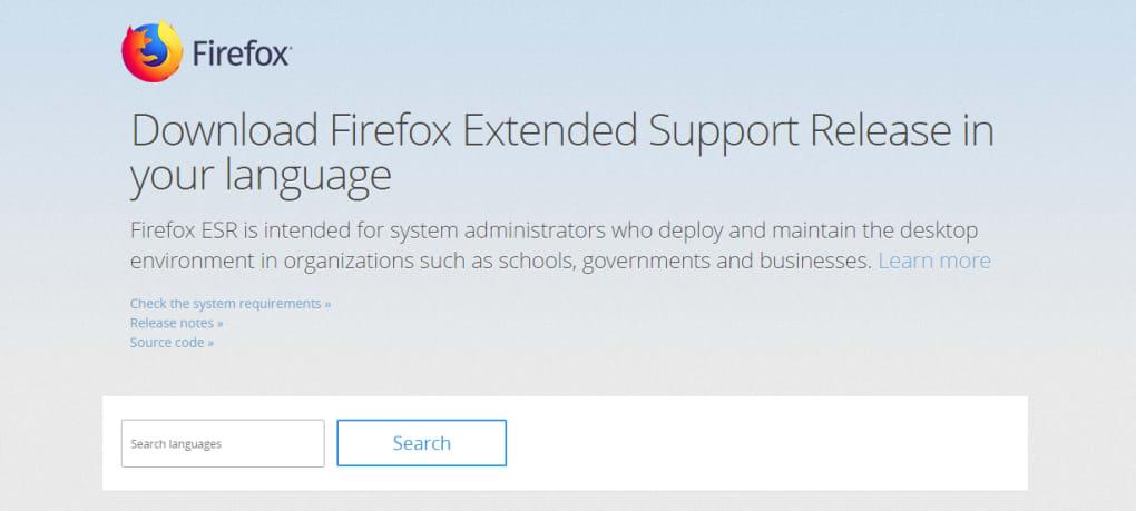 Firefox ESR - Download