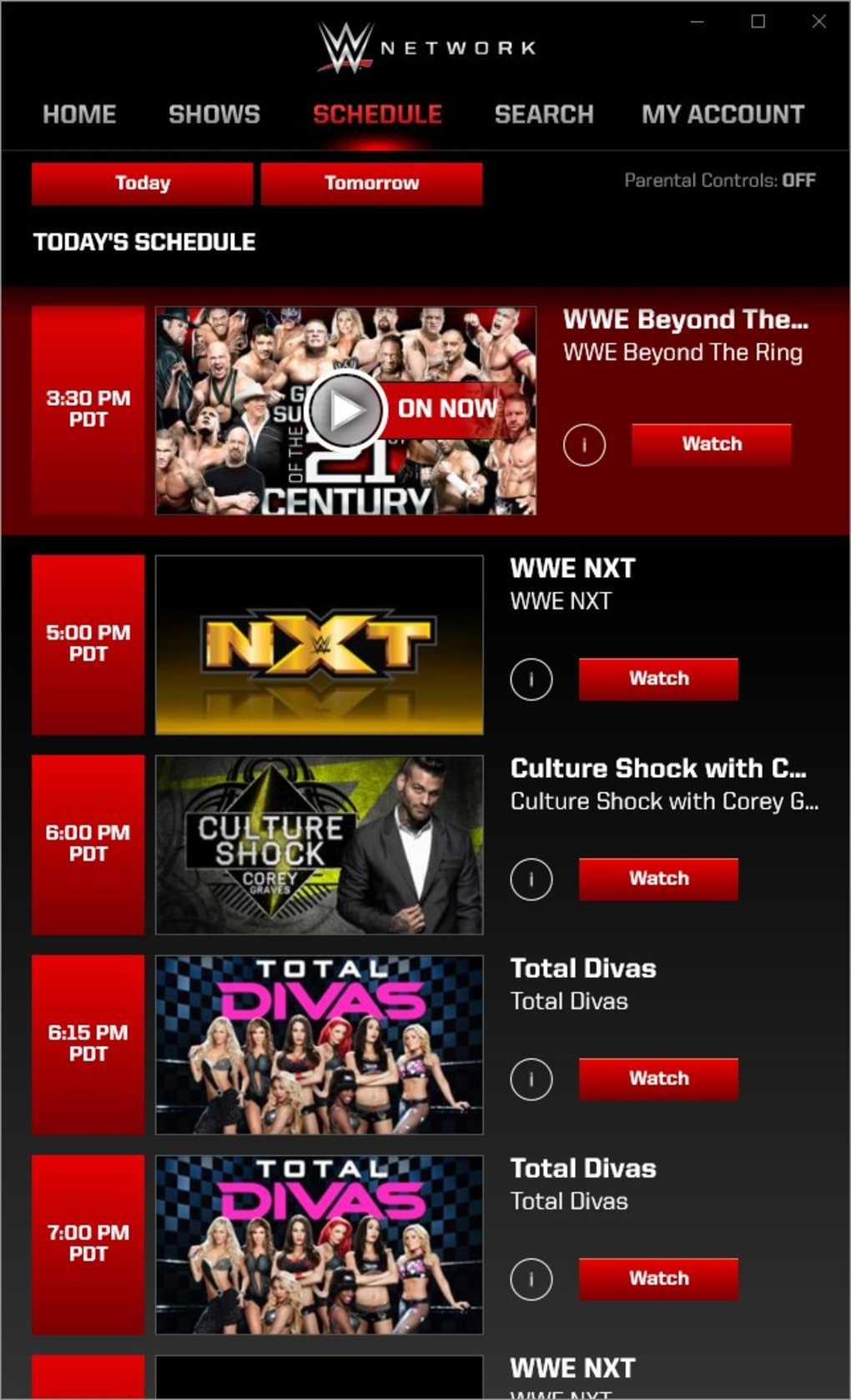 free wwe network account info