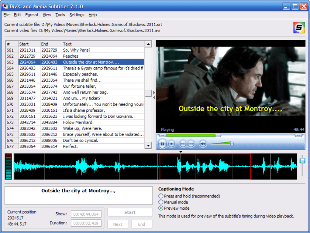 divxland media subtitler 2.0.7