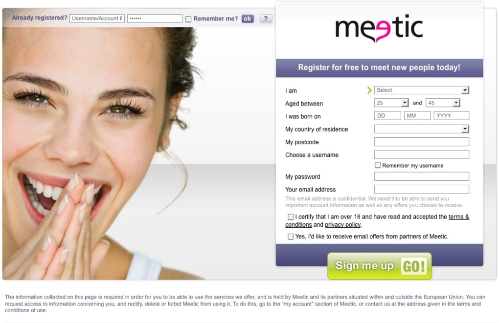 Meetic dating site