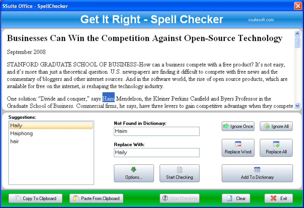 english spelling checker software free download