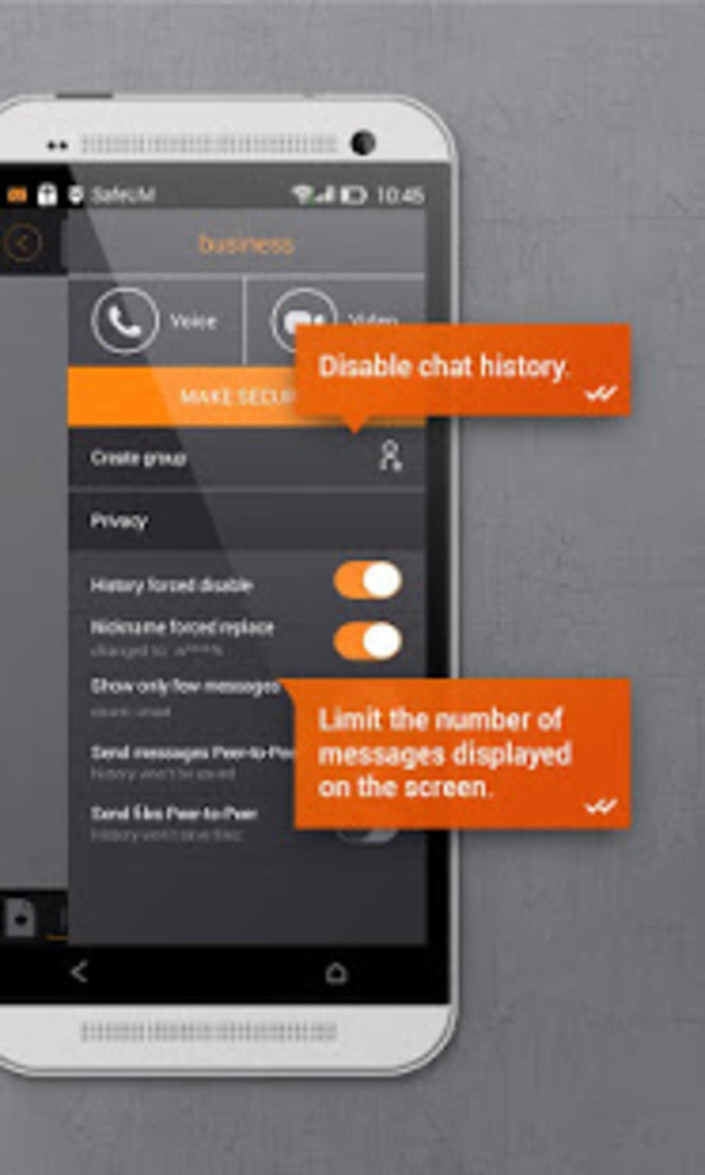 Secure messenger SafeUM for Android - Download