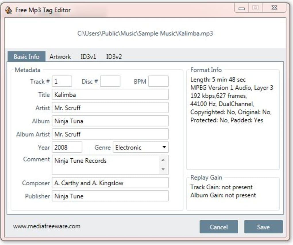 Free MP3 Tag Editor - Download