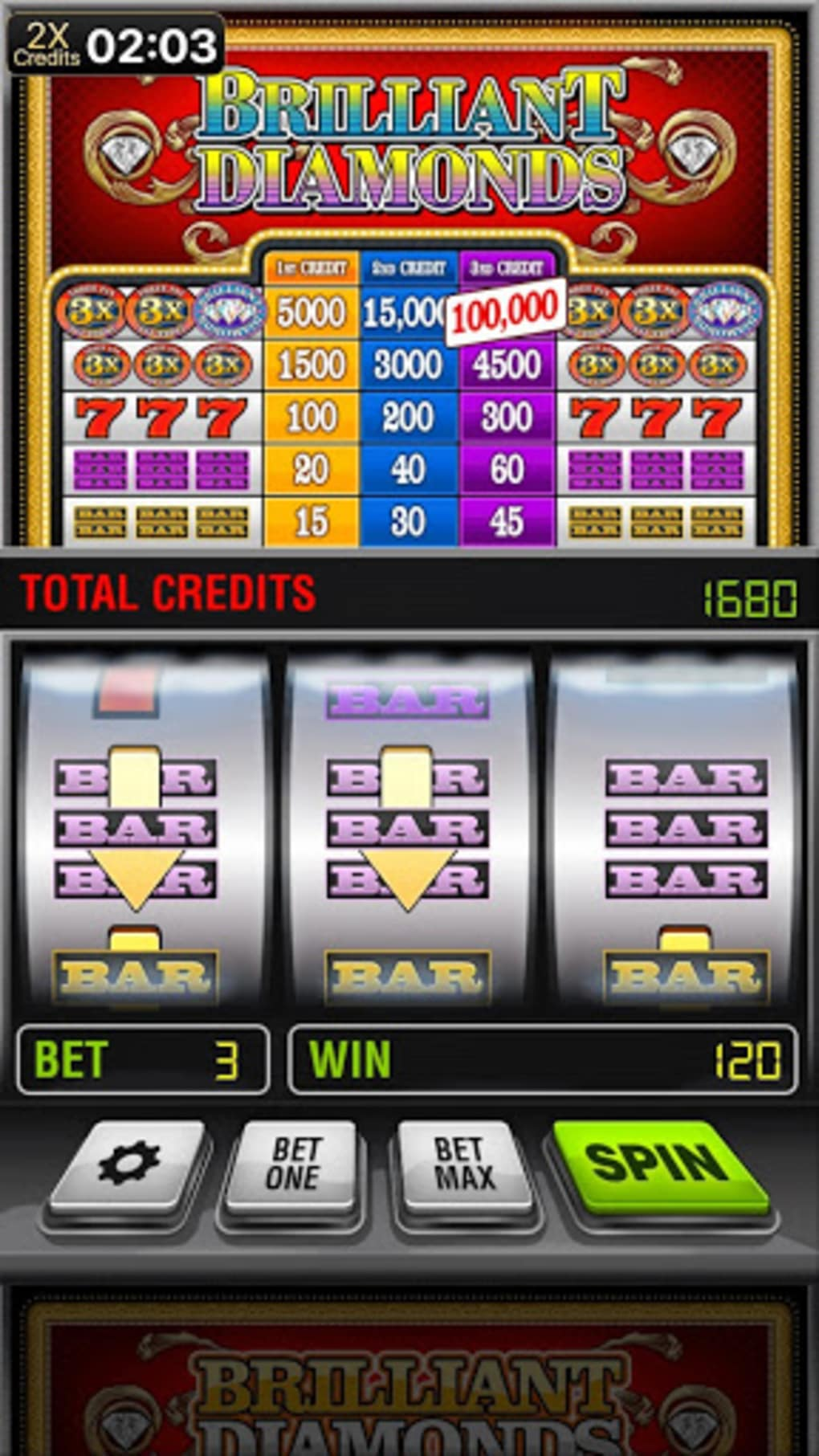 Slot machine magic diamond