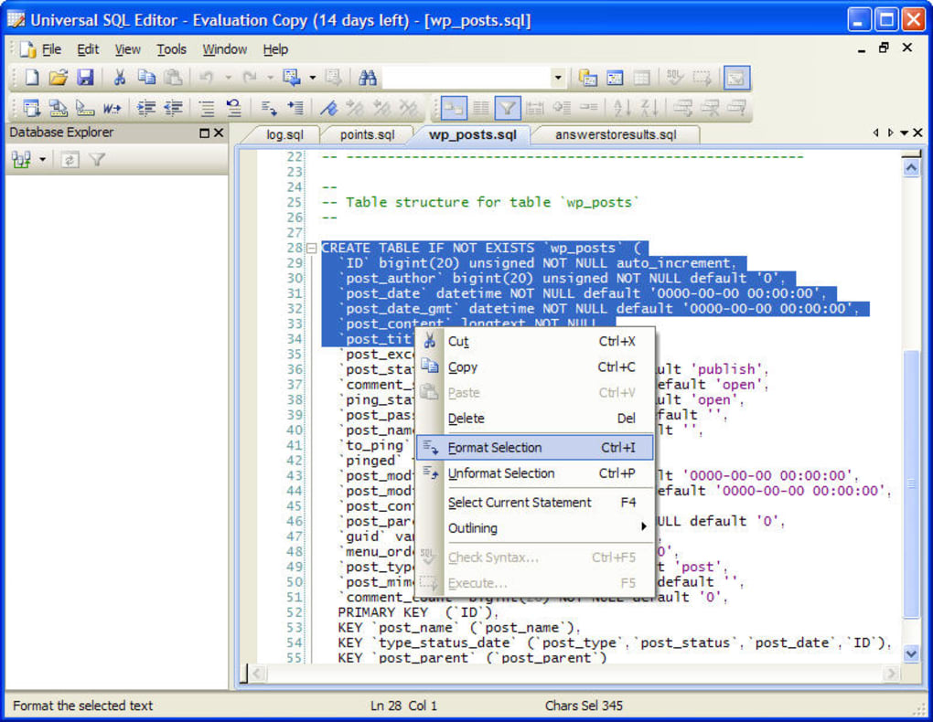 Universal SQL Editor - Download