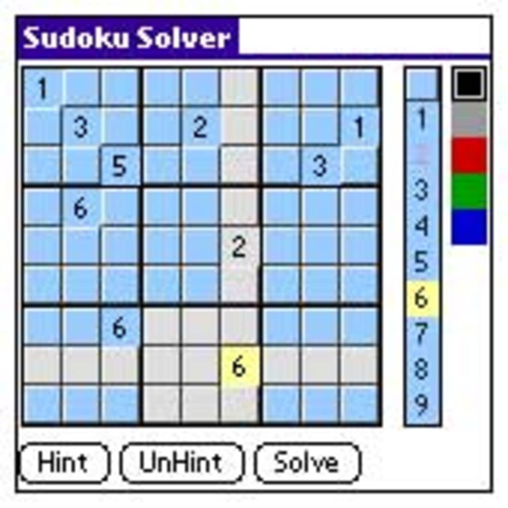 sudoku solver for palm os download