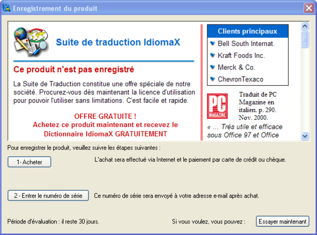 idiomax translation suite gratuit