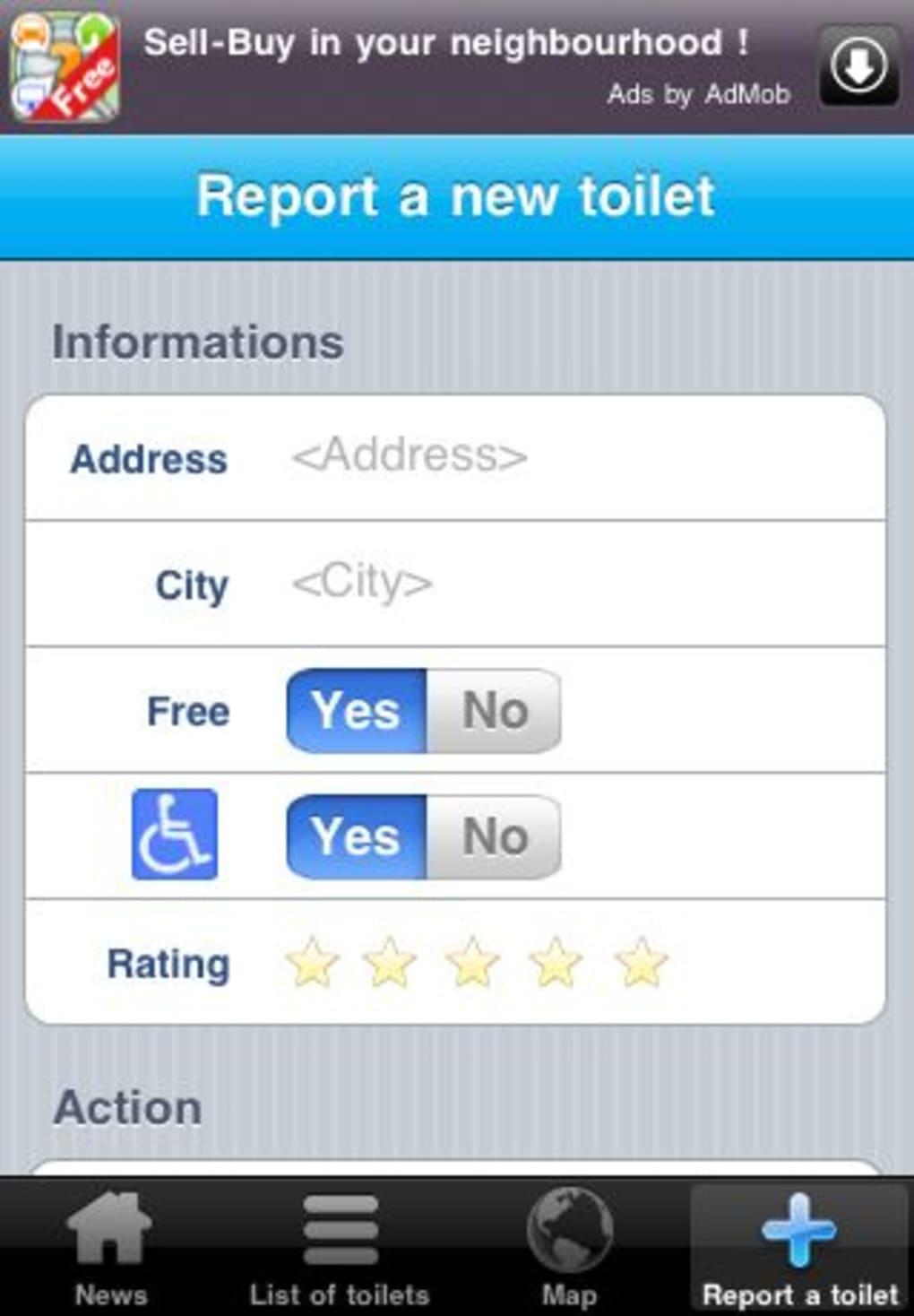 Toilet finder for iphone download for Best bathroom finder app