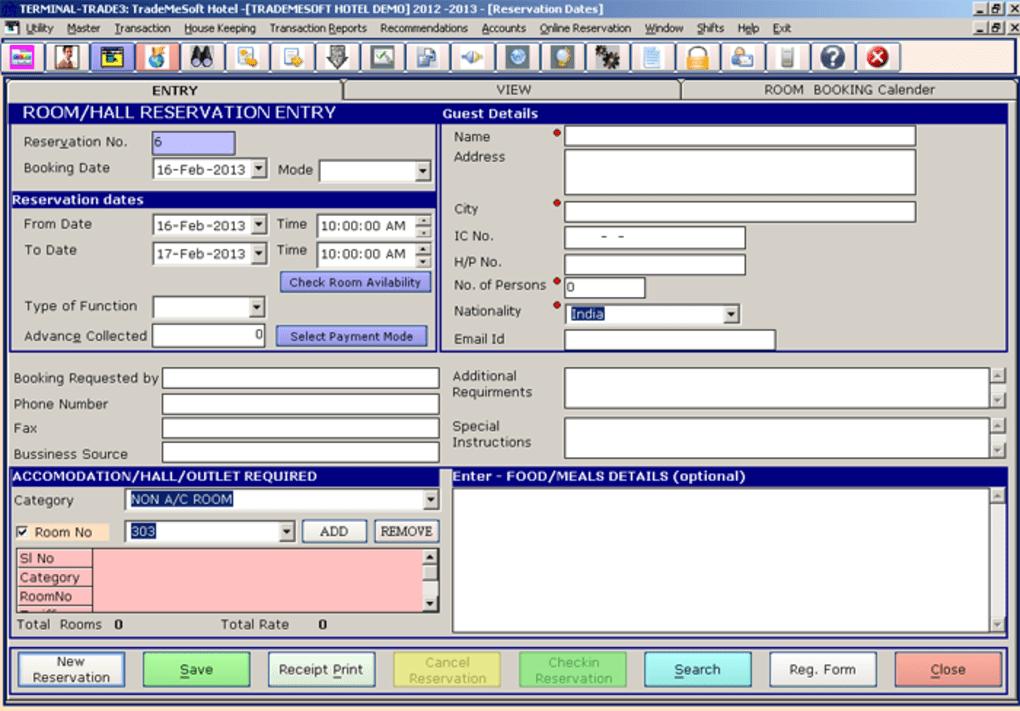 TradeMeSoft Hotel - Hotel Management Software - Download