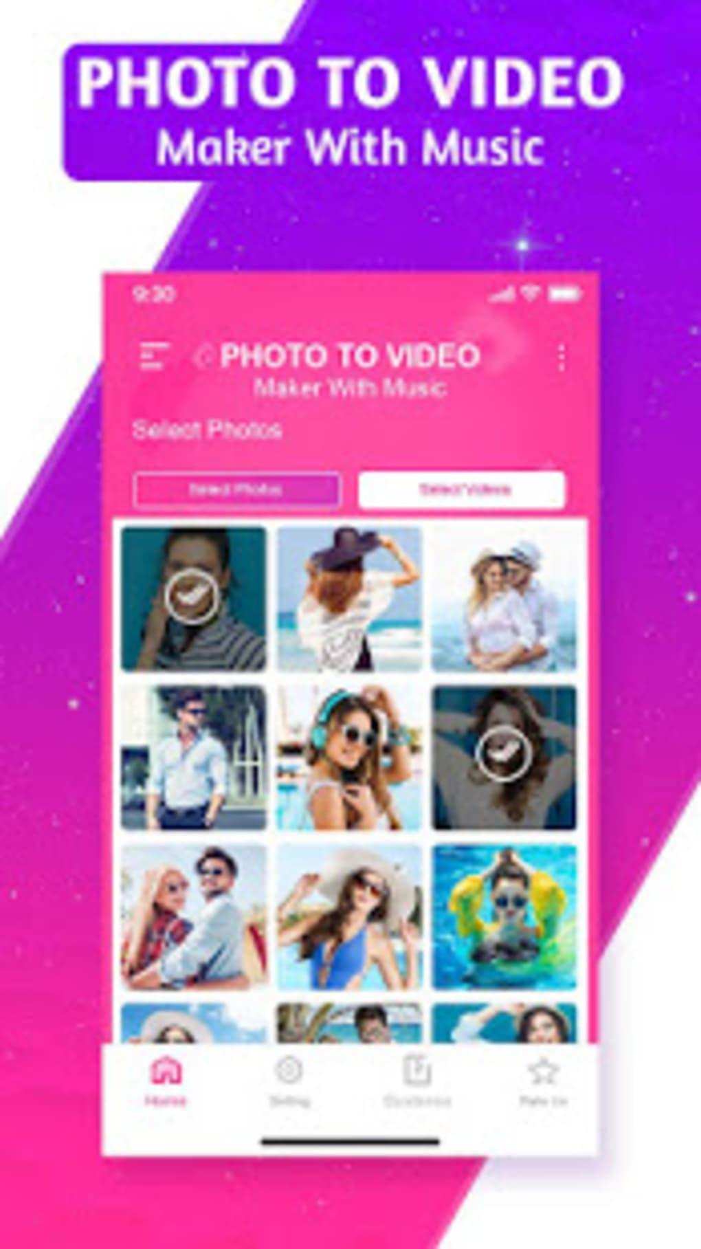 Photo Video Maker with Music: Slideshow Maker for Android