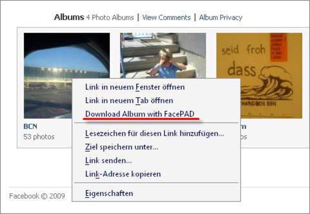 album facebook herunterladen