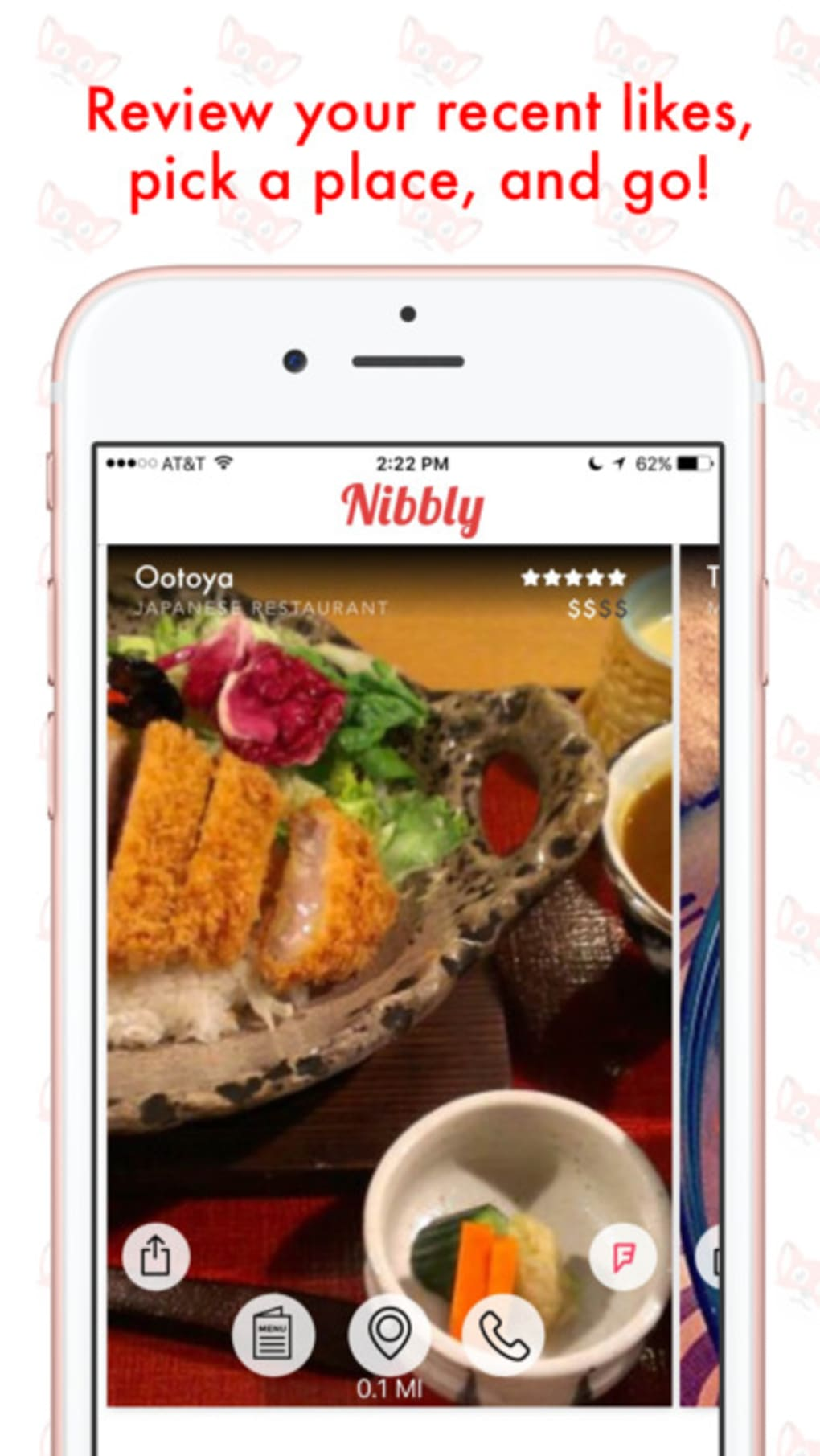 Nibbly Discover Restaurants 1 Screenshots