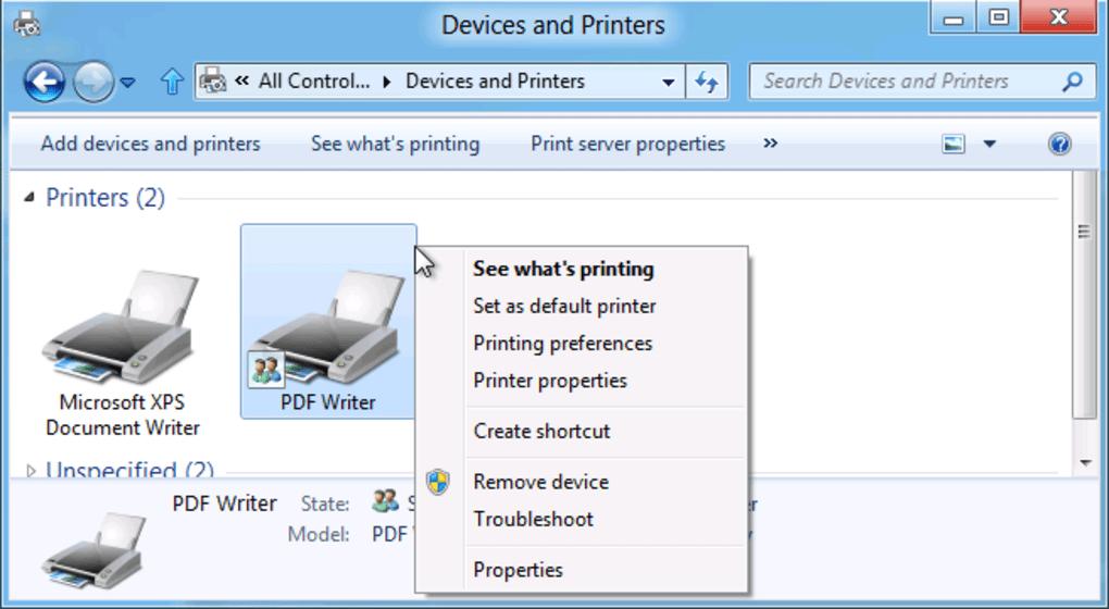 Free pdf writer windows 7