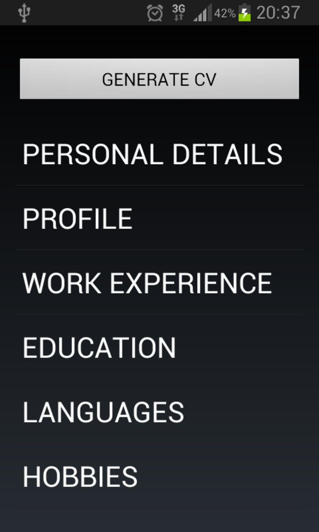 Curriculum Vitae Per Android Download