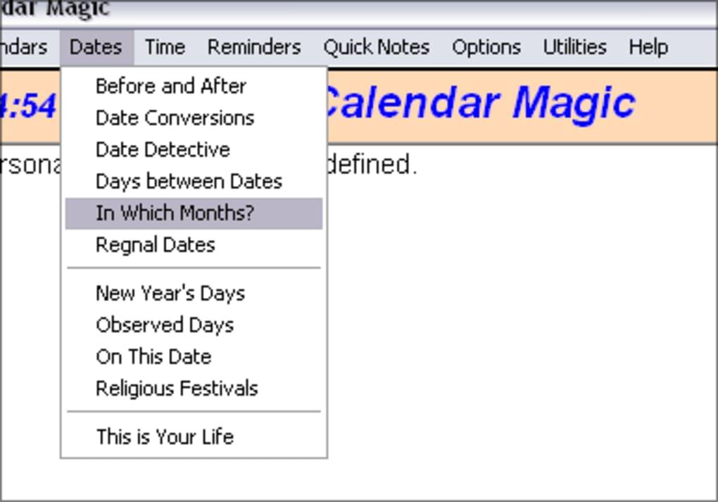 Calendar Magic Download
