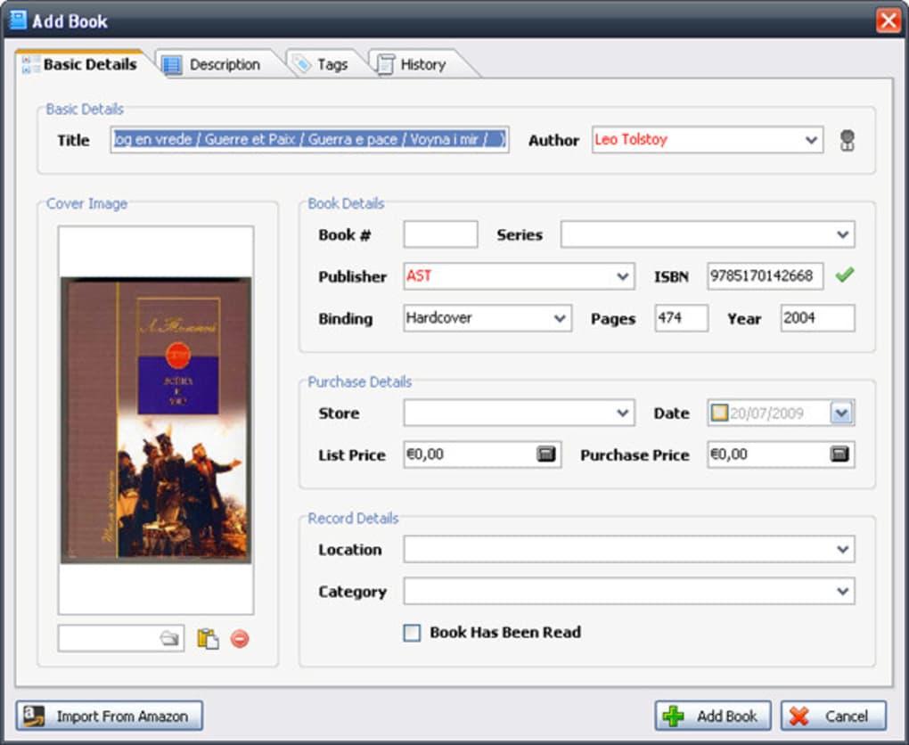 programma catalogazione libri