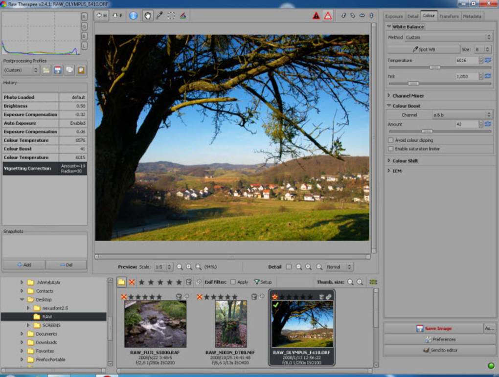 free photo editing software for raw images