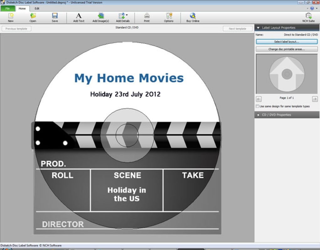 Disketch CD Labeling Software - Download