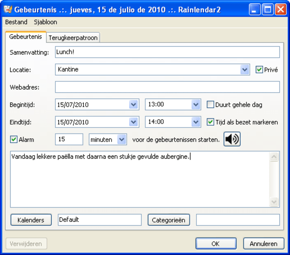 rainlendar free download italiano