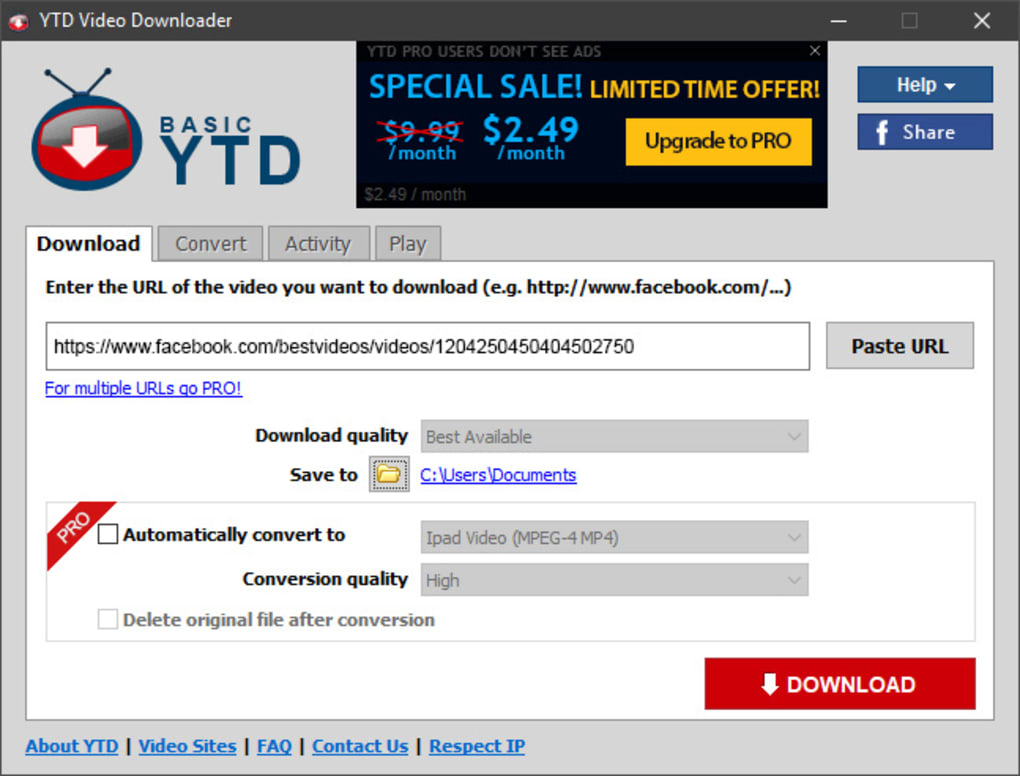 ytd downloader full version pro free