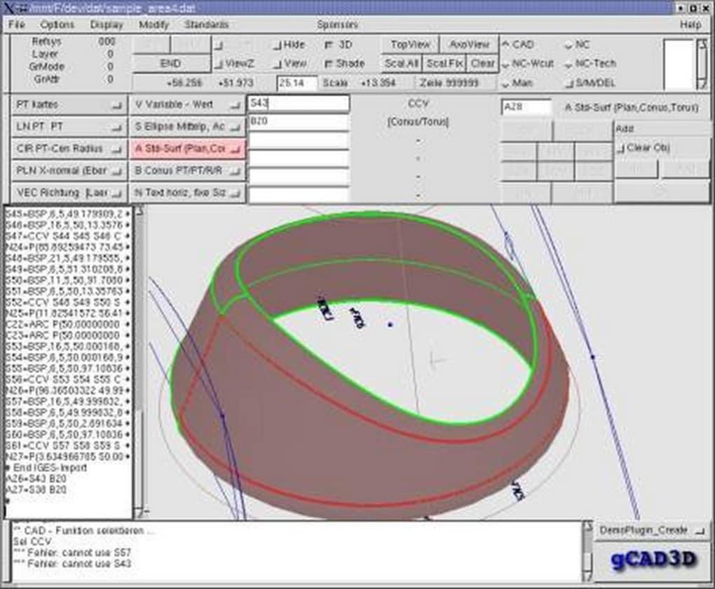 Gcad3d descargar for Programas de arquitectura 3d