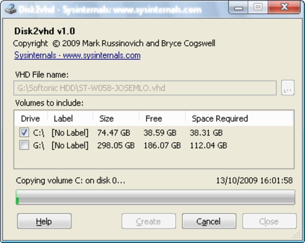 Disk2vhd - Descargar