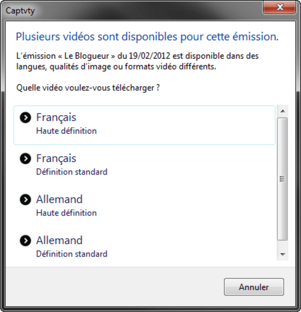 captvty pour windows 7