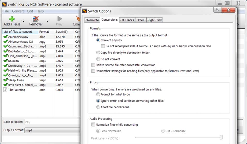 Switch Plus Audio File Converter - Download