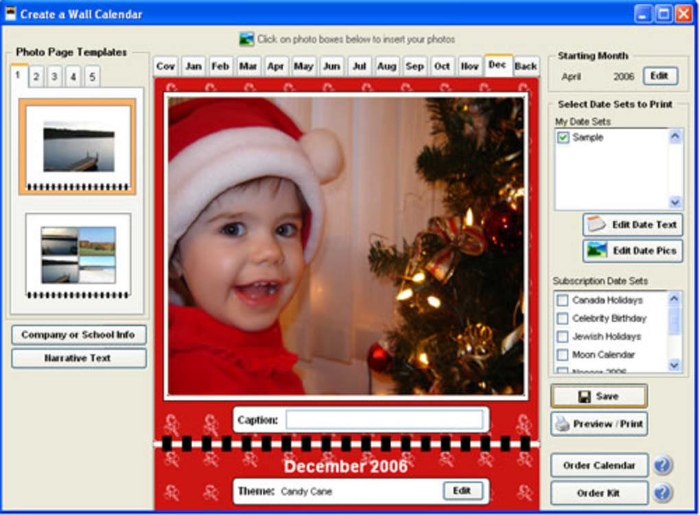 EZ Photo Calendar Creator Download