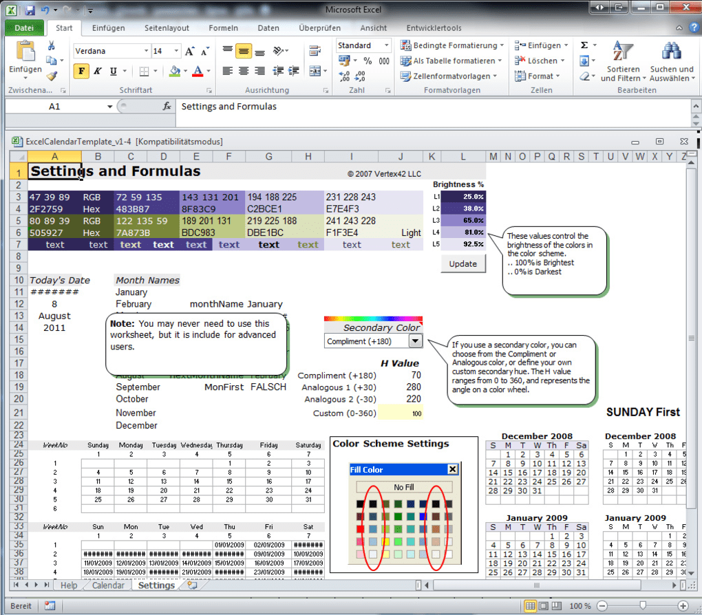 Excel Kalender Vorlage Download