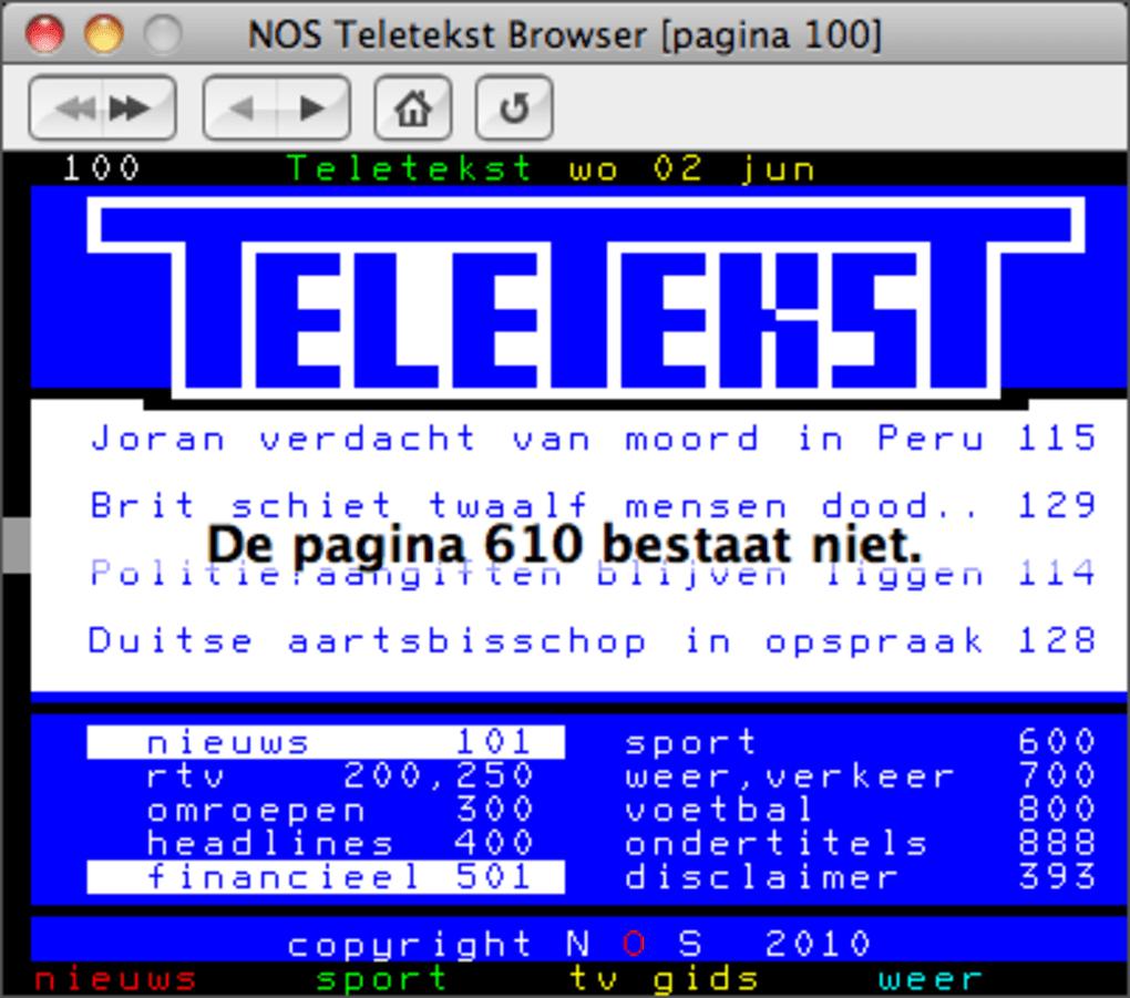NOS Teletekst Browser voor Mac - Download
