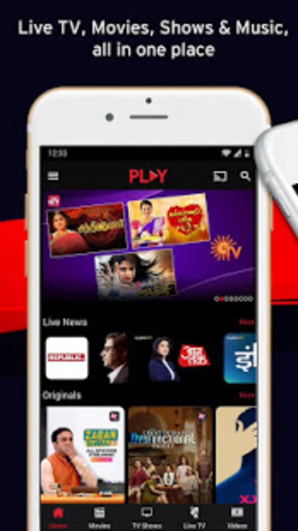 Vodafone Play -Movies TV Shows Live TV Videos Free for