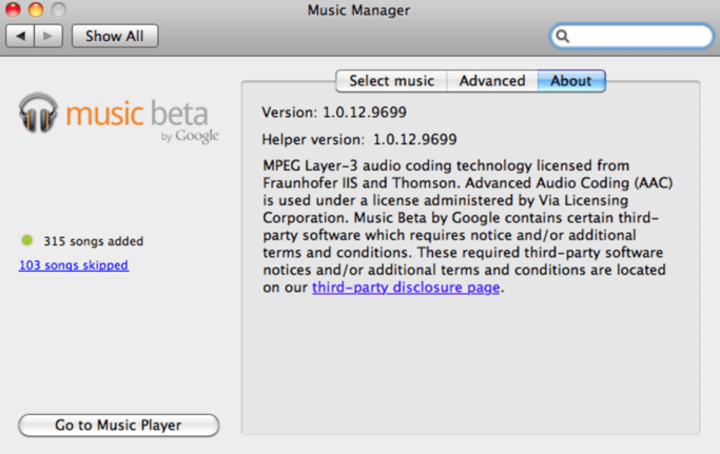 Google Play Music Manager para Mac - Descargar