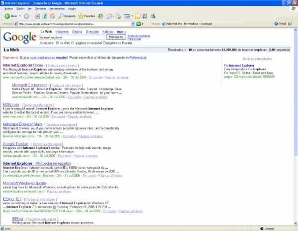 internet explorer 6 sp2 free download windows xp