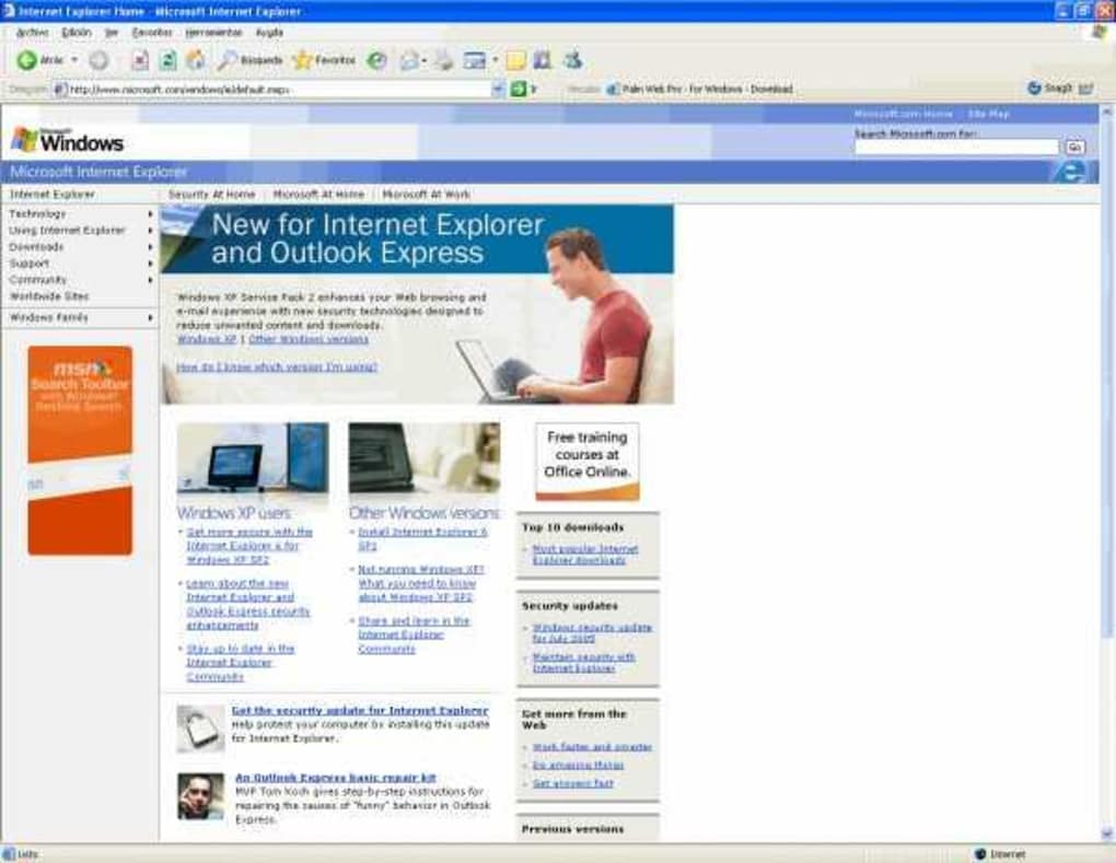 Internet explorer 7 download.