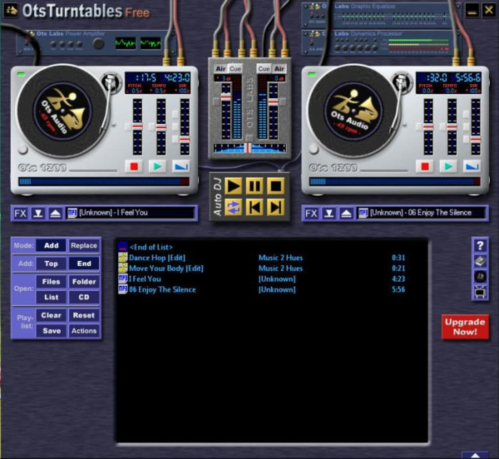 Screenshot of otsturntables free v1. 00. 048 (hitsquad).