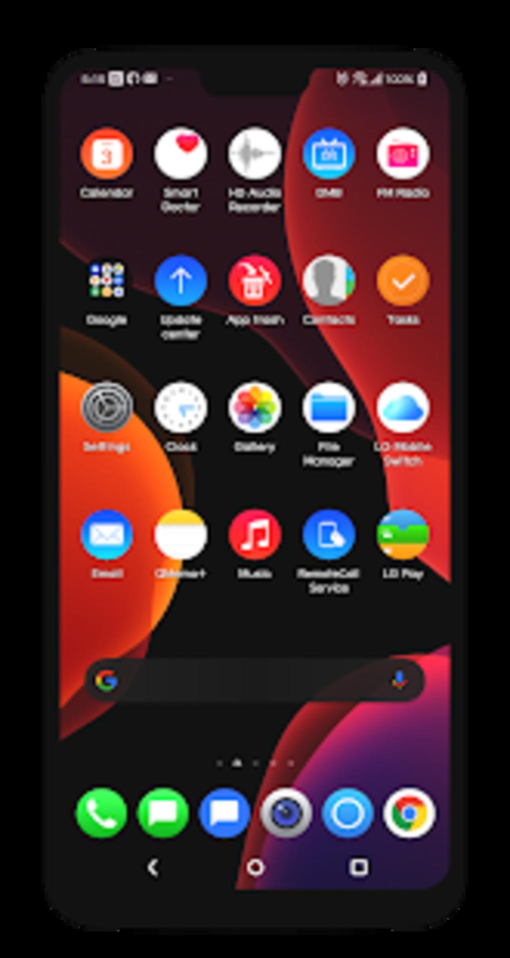 UX8 MIOS Black Theme LG G8 V50 V40 V30 Pie for Android