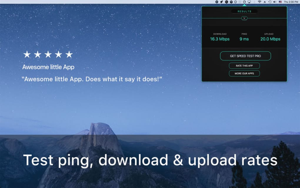 Speed Test for Mac - Download