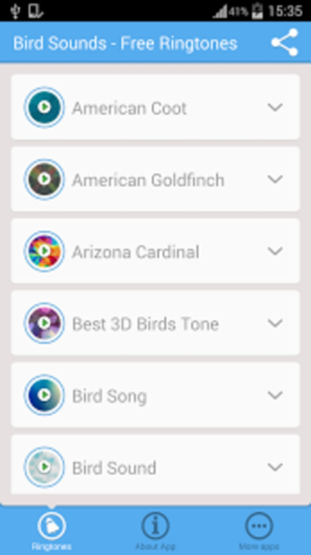 Bird Sounds - Free Ringtones for Android - Download