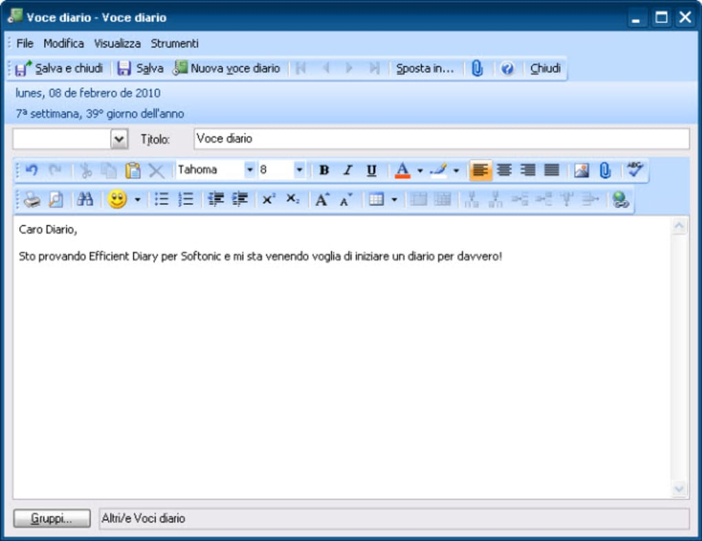 Efficient Diary Download