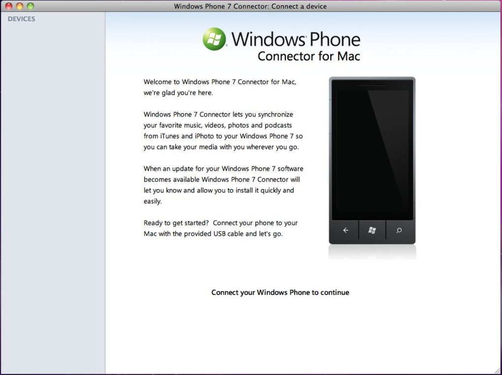 Windows Phone 7 Connector