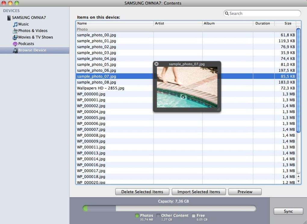logiciel zune pour samsung omnia 7 gratuit